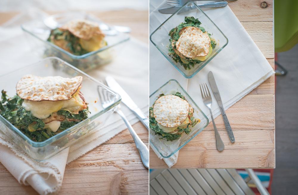 Matzes recept: Spinazie-aardappeltaart