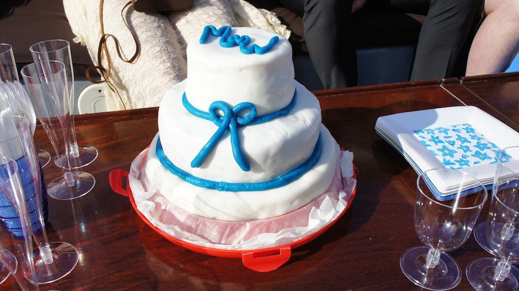 De traditie van de trouwtaart