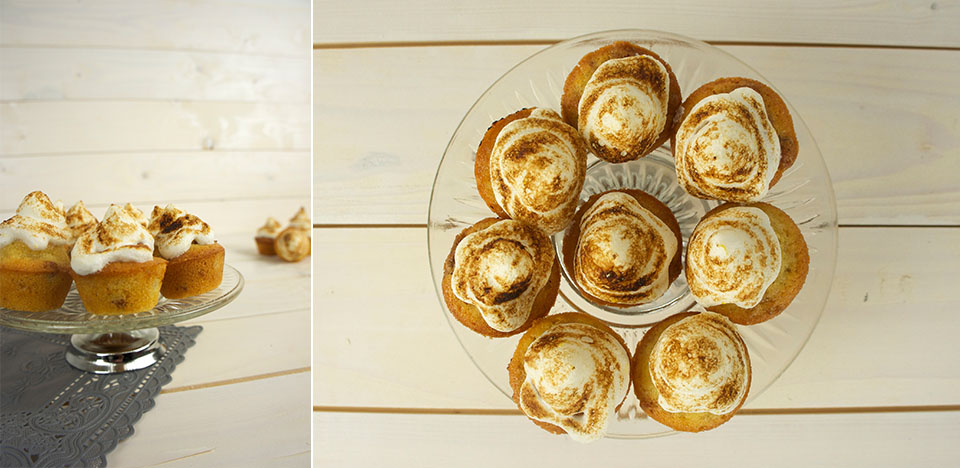 Mini biscuitmuffins met citroenmeringue