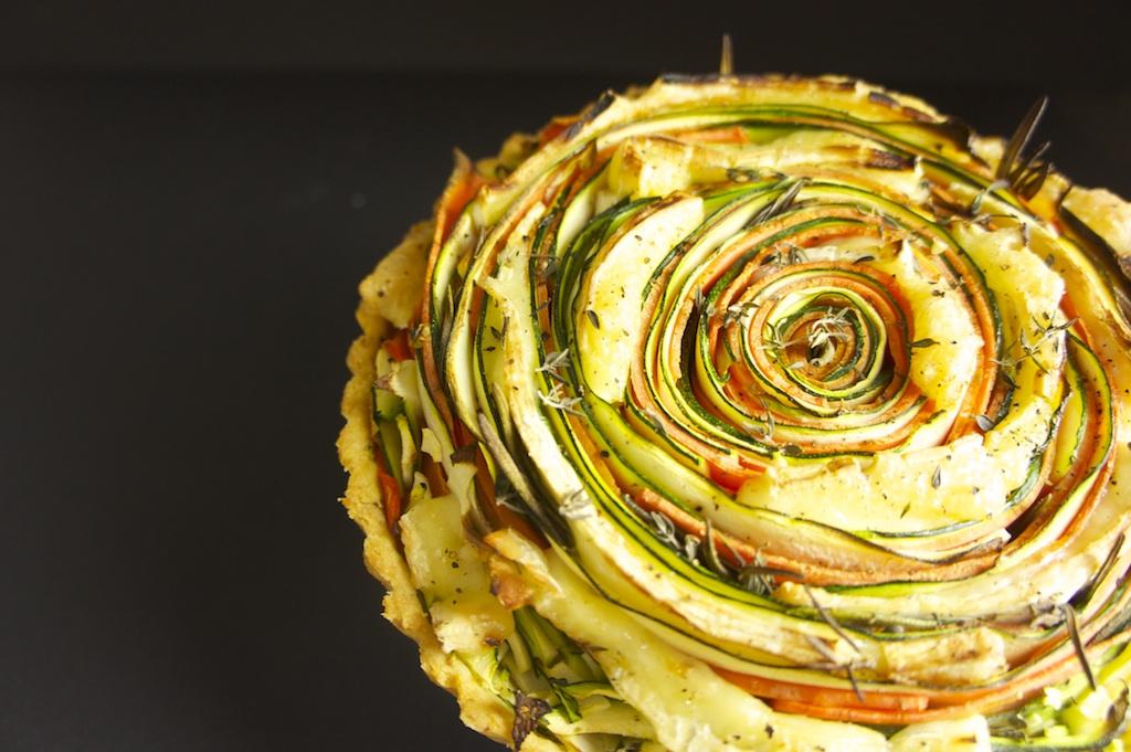 Indrukwekkende groentetaart met brie